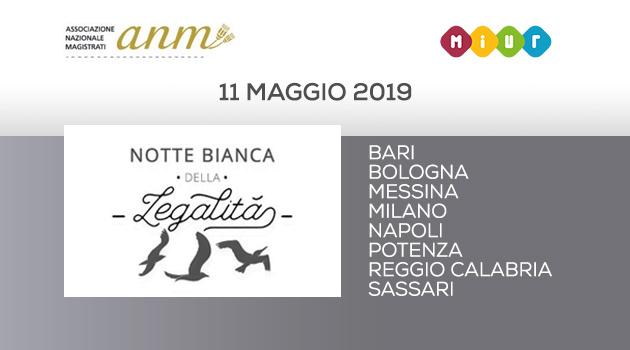 """11 maggio 2019, torna """"La Notte Bianca della Legalità"""""""