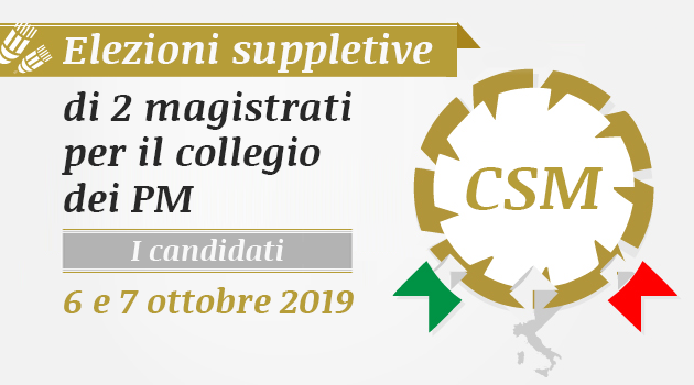 Candidati elezioni suppletive CSM