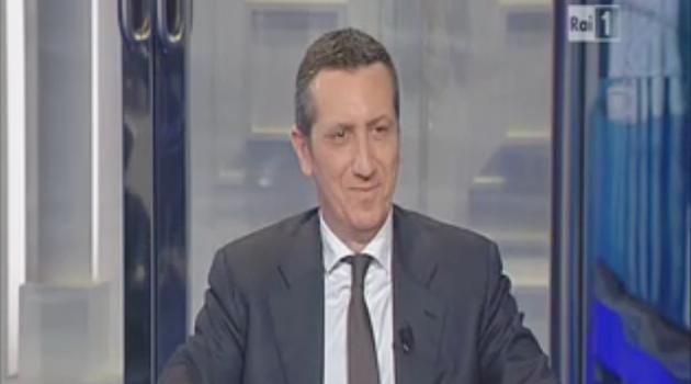 Il presidente dell'ANM Rodolfo M. Sabelli ospite della puntata di Porta a Porta sulla responsabilità civile