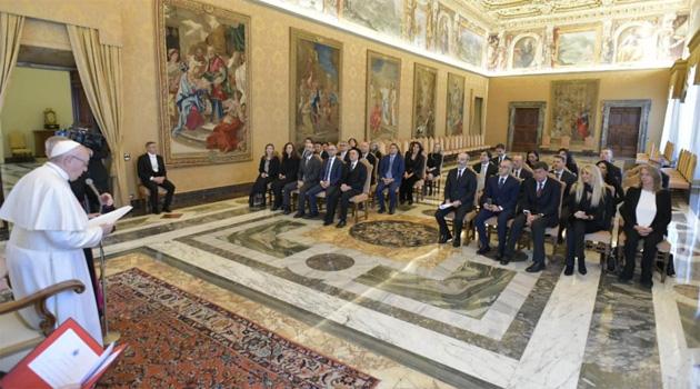 Il Pontefice ai magistrati italiani