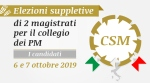 Candidati elezioni suppletive CSM -