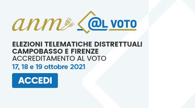 Elezioni dei distretti dell'ANM di Campobasso e Firenze