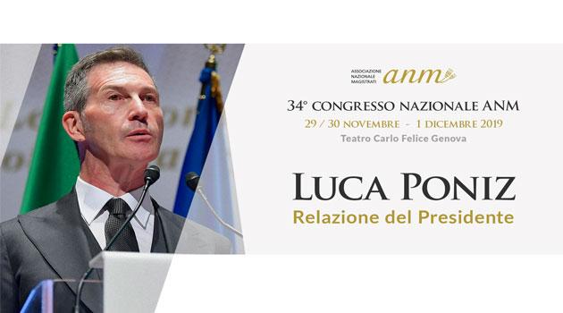 La Relazione del Presidente dell'ANM Luca Poniz