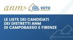 Le liste candidati alle elezioni dei distretti ANM di Campobasso e Firenze -