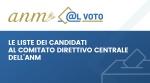 Le liste dei candidati al Comitato Direttivo Centrale dell'ANM -
