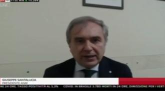 Il presidente dell'ANM Giuseppe Santalucia ospite di Sky Tg24