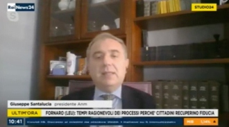 Il presidente Giuseppe Santalucia ospite a Studio 24 Rainews